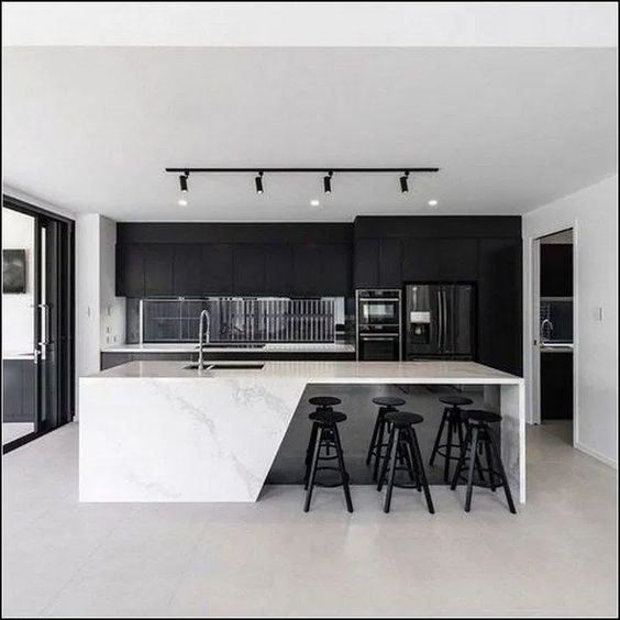 Kitchen Bar Idea 12 Black White