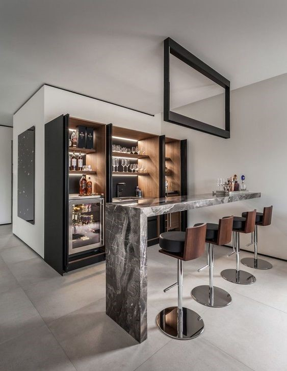 Kitchen Bar Idea 15 Modern