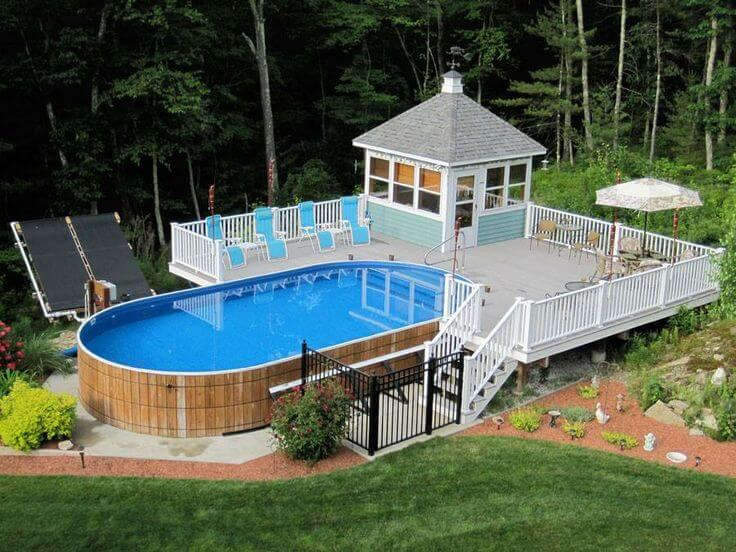 above ground pool deck ideas on budget 11