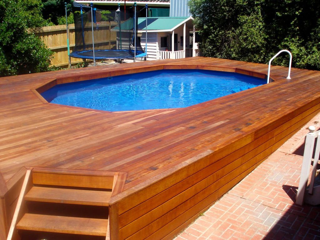 above ground pool deck ideas on budget 13