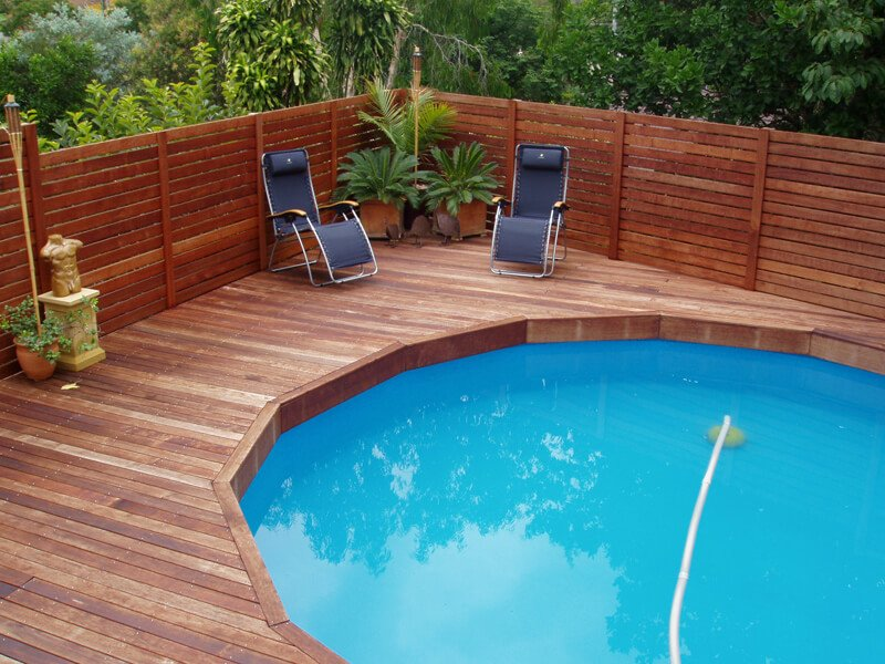 above ground pool deck ideas on budget 14