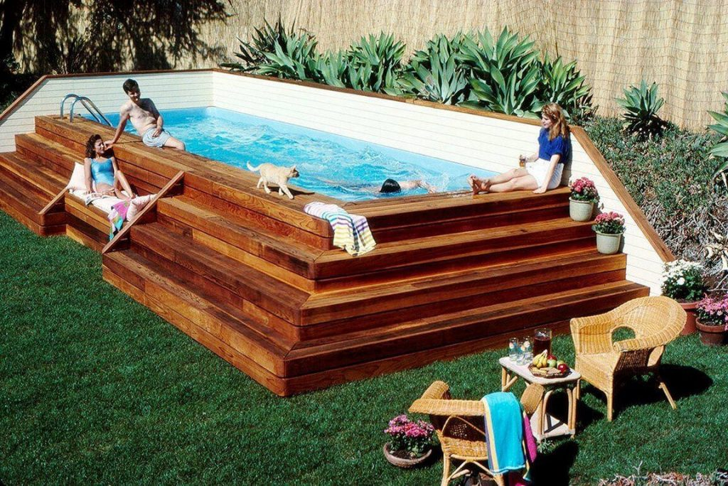 above ground pool deck ideas on budget 15