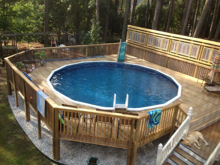above ground pool deck ideas on budget 18