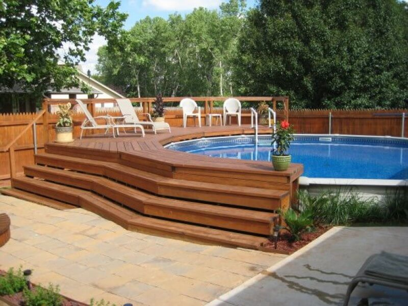 25 Above Ground Pool Deck Ideas, How To Build A Raised Deck Around An Above Ground Pool