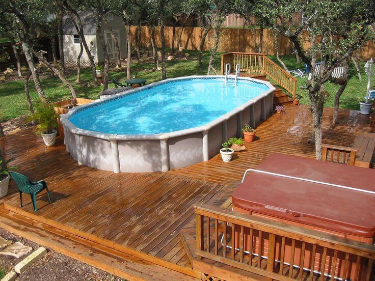above ground pool deck ideas on budget 20