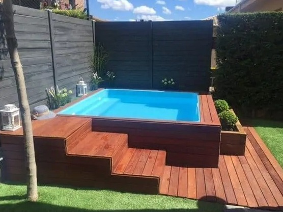 above ground pool deck ideas on budget 25