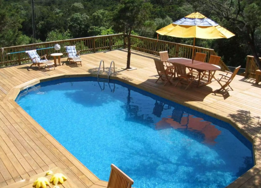 Cheap Above Ground Pool Deck Ideas On a Budget