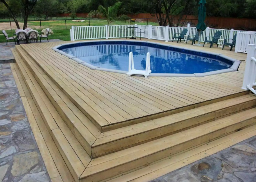 above ground pool deck ideas on budget 6