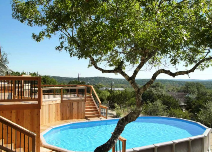 above ground pool deck ideas on budget 8