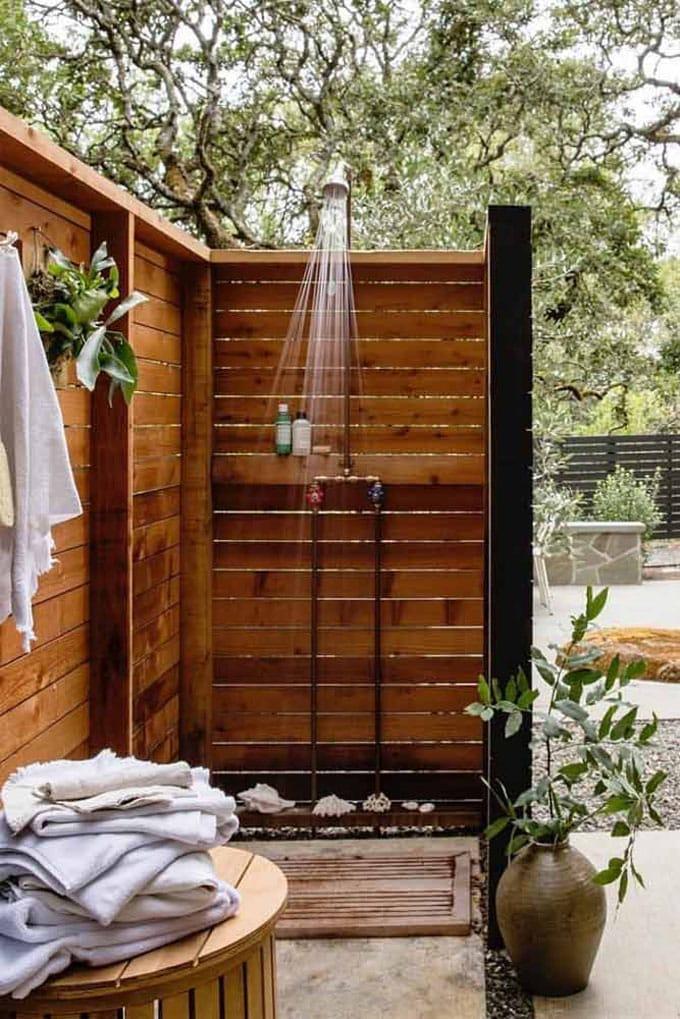 cheap diy outdoor solar shower ideas 8