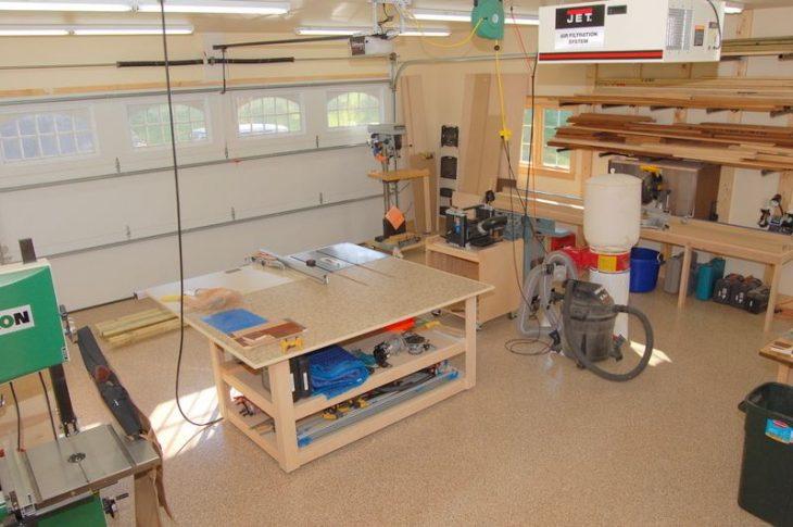 Woodworking Garage Addition